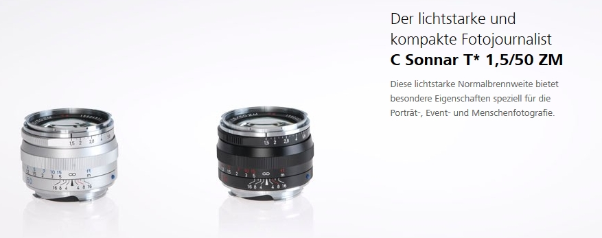 Zeiss 50mm f1.5 C Sonnar Review